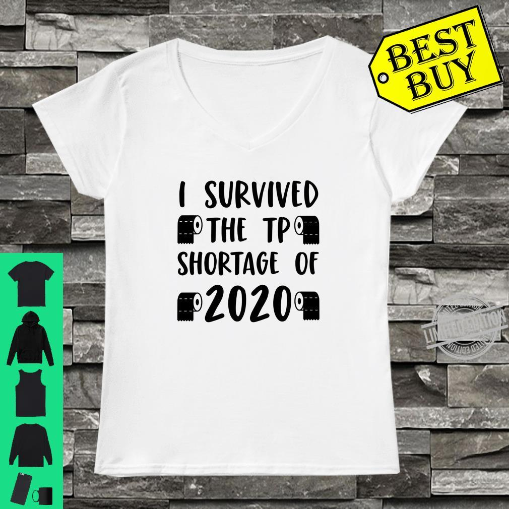 I Survived The Toilet Paper Shortage of 2020 TP Humor Shirt ladies tee