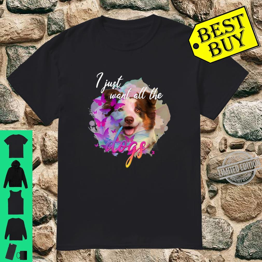 I just want all the dogs cute dog face Shirt