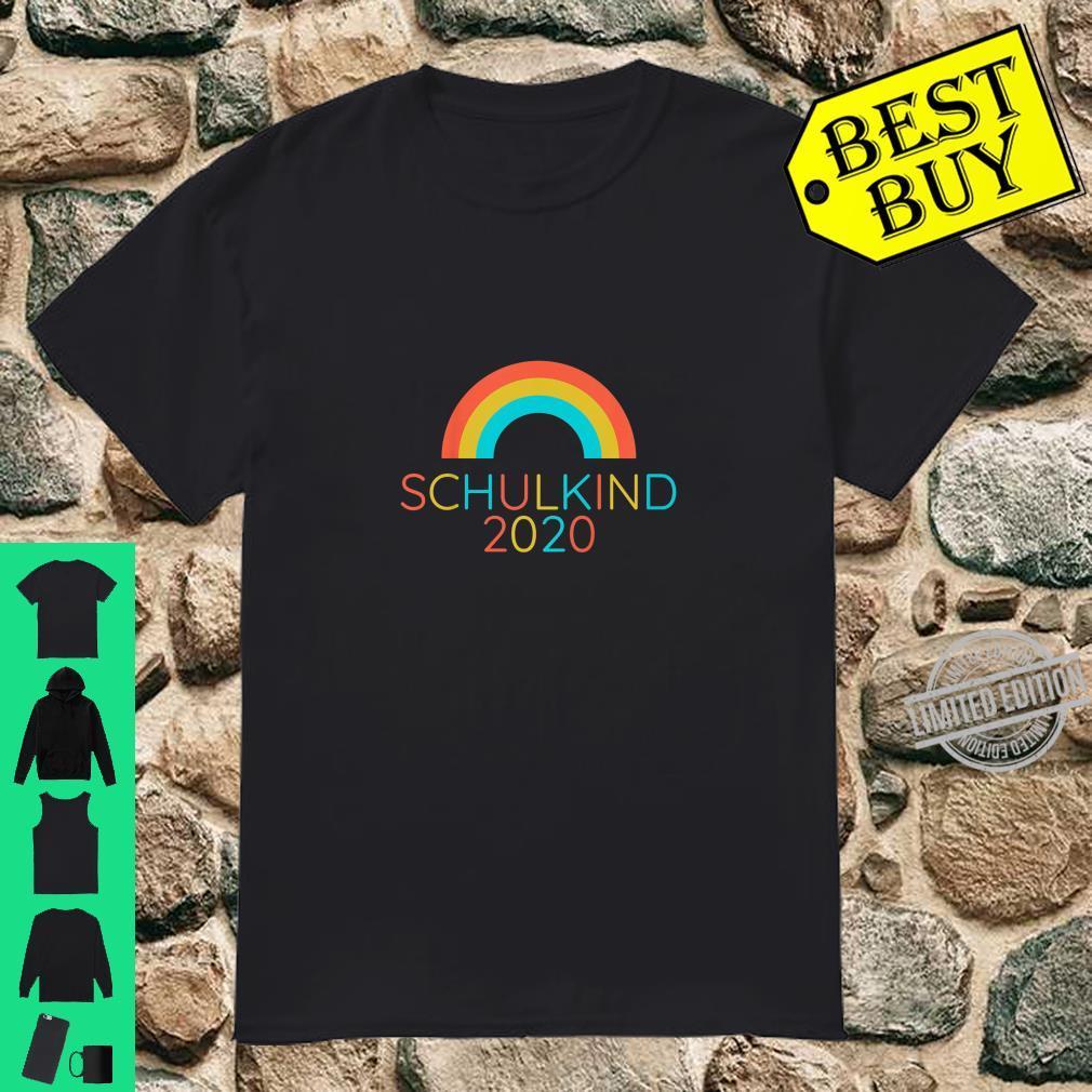 Kinder Schulkind 2020 Einschulung Schulanfang Regenbogen Shirt