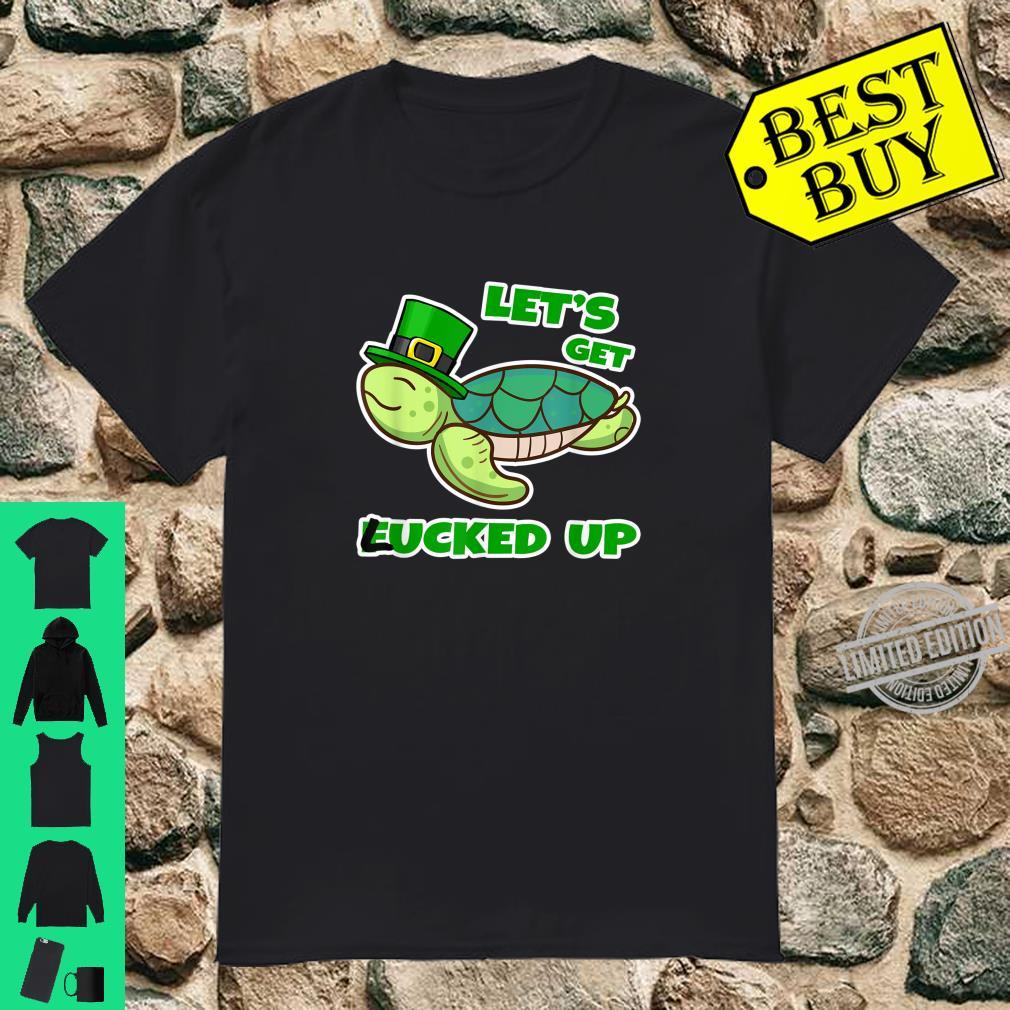 Let's Get Lucked Up St Patricks Day Turtle Costume Shirt