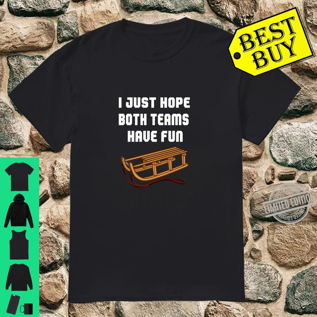 Lustiges SchlittenSchneeskiSpaßTeam Langarmshirt Shirt