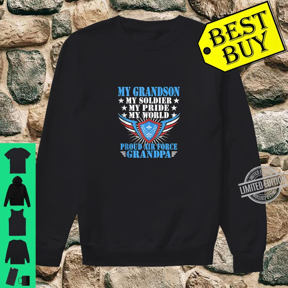 Mens My Grandson Is A Soldier Airman Proud Air Force Grandpa Shirt sweater
