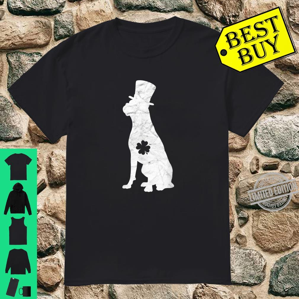 Retro Boxer Hat Irish Shamrock Dog St Patrick's Day Shirt