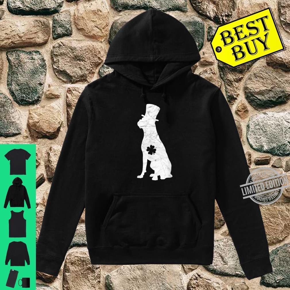 Retro Boxer Hat Irish Shamrock Dog St Patrick's Day Shirt hoodie