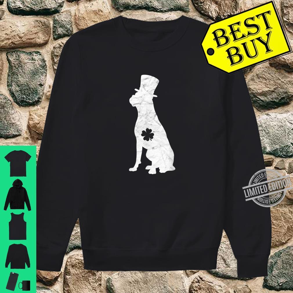Retro Boxer Hat Irish Shamrock Dog St Patrick's Day Shirt sweater