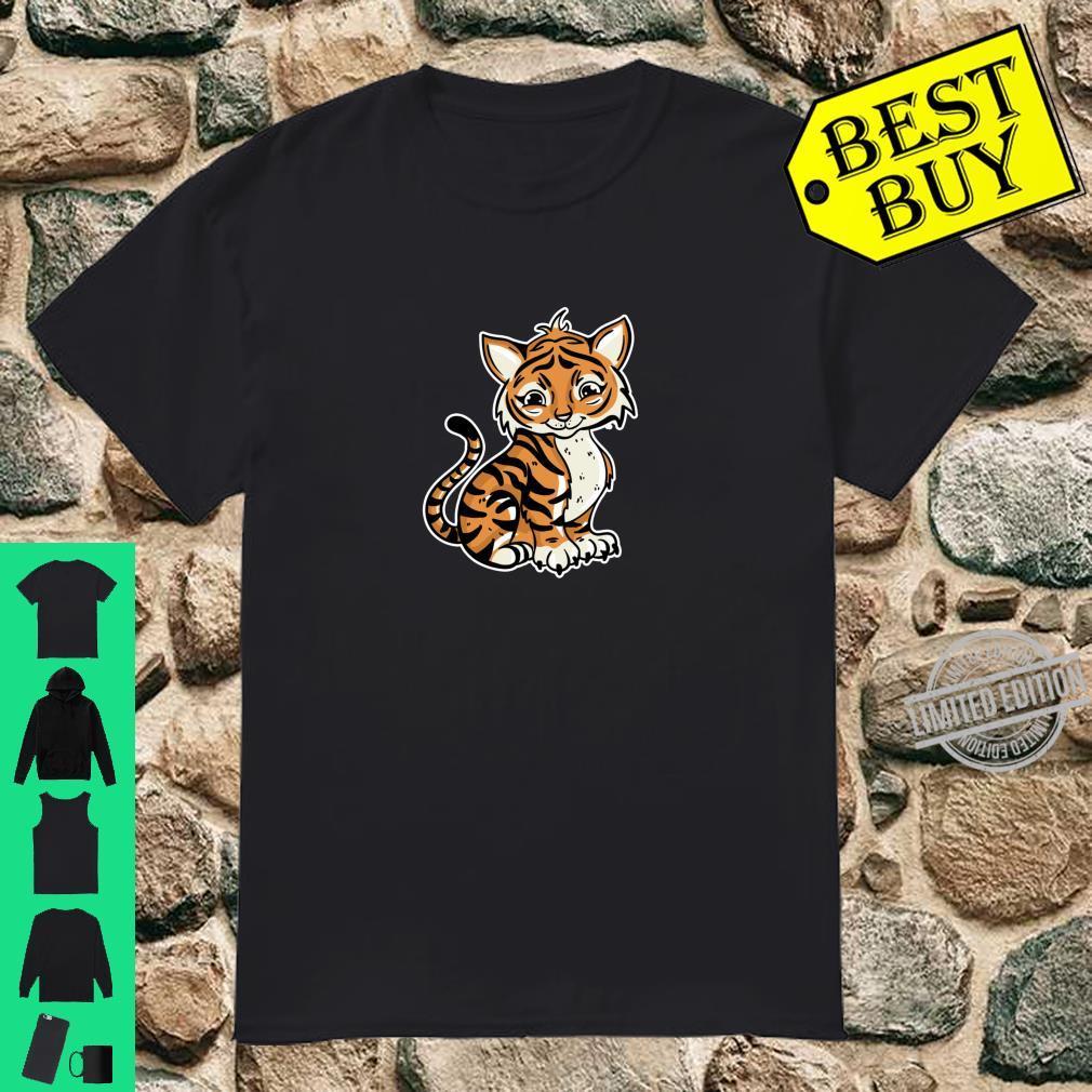 Süßer Tiger Illustration Liebesgeschenk Tiger Shirt