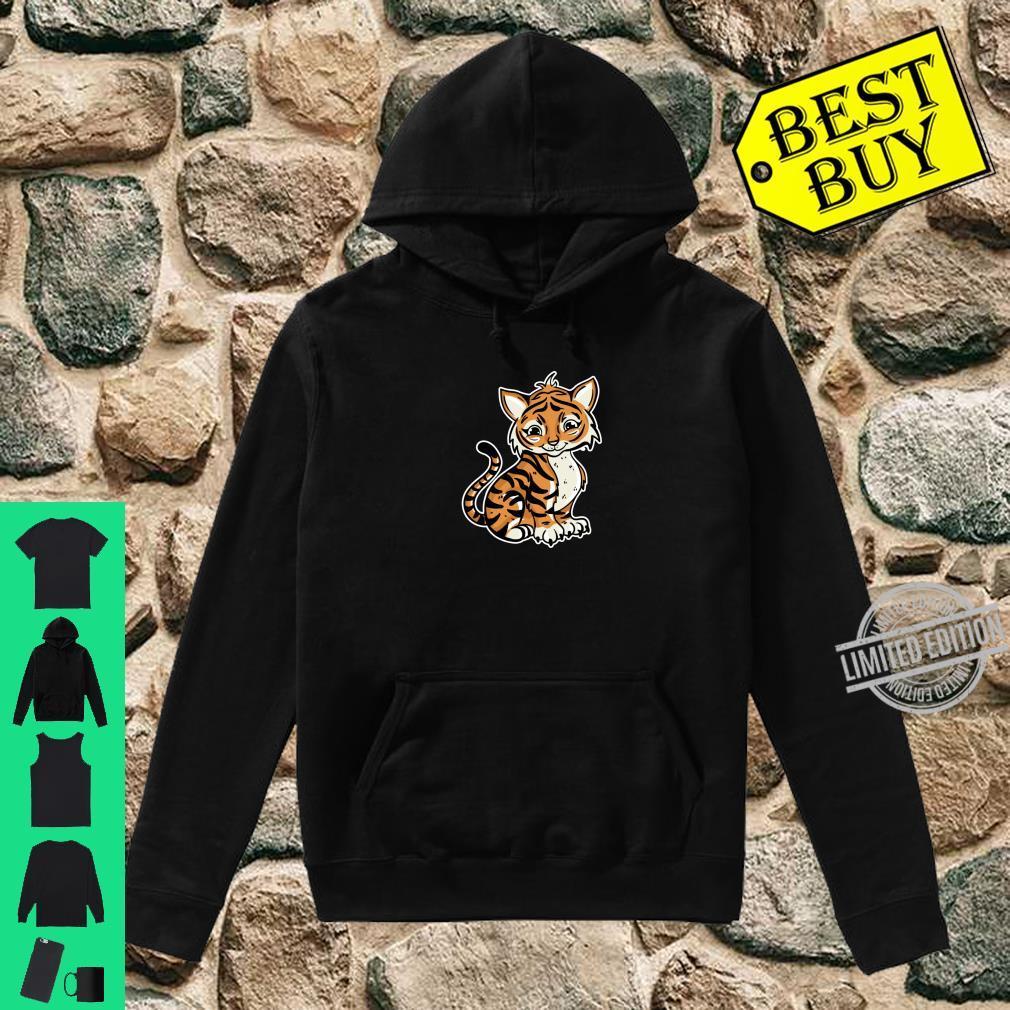 Süßer Tiger Illustration Liebesgeschenk Tiger Shirt hoodie