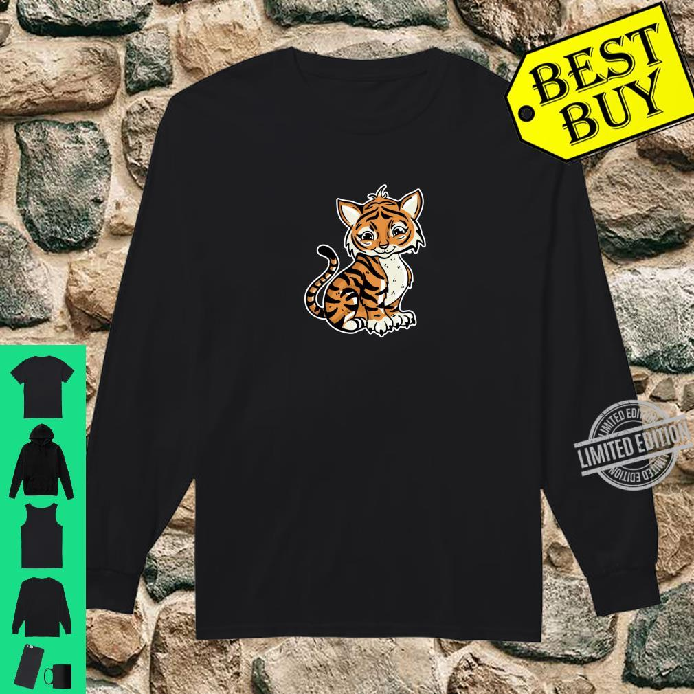 Süßer Tiger Illustration Liebesgeschenk Tiger Shirt long sleeved
