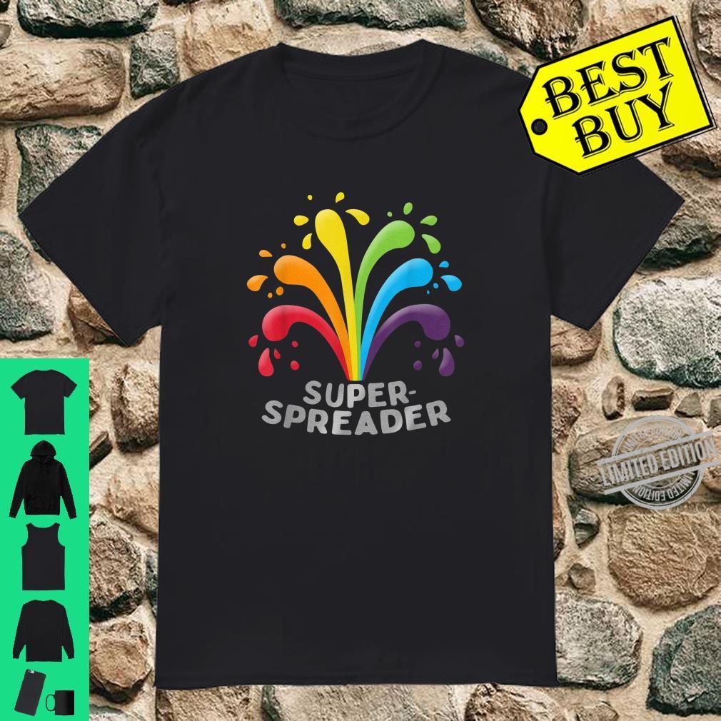 Superspreader Gay LGBTQ Regenbogenfarben Shirt