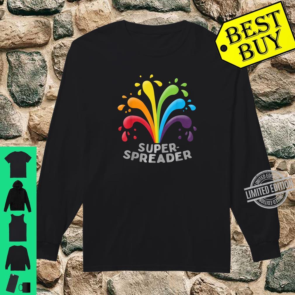 Superspreader Gay LGBTQ Regenbogenfarben Shirt long sleeved