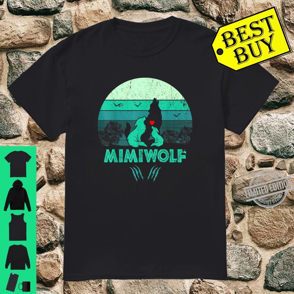 Vintage Retro 2 Mimiwolf Wolf Shirt