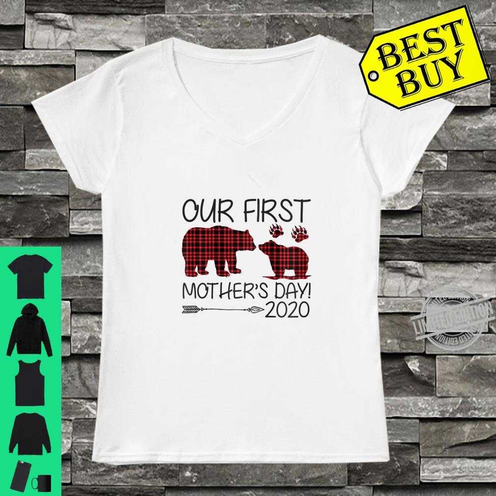 Womens Our First Mother's Day 2020 New Mom Ideas Shirt ladies tee