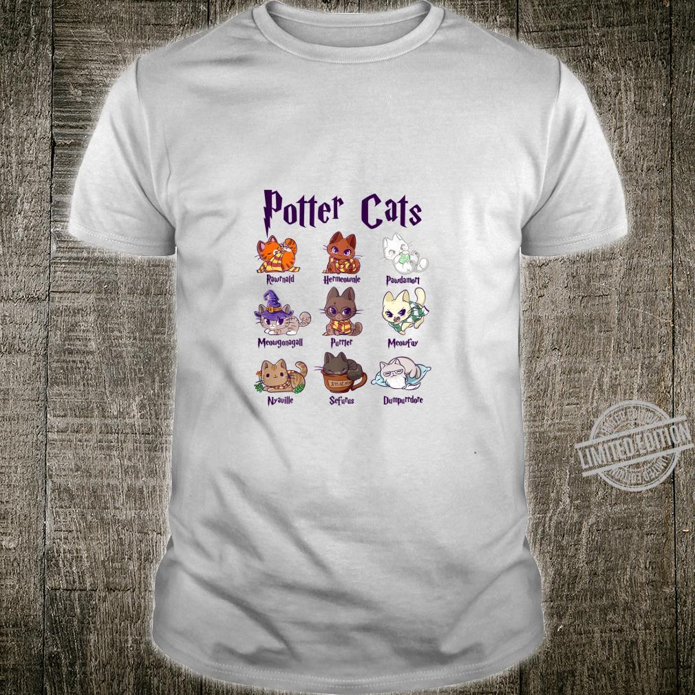 Womens Potter Cats Cute Harry Pawter Kitten for Her Shirt